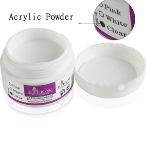1 Bottle Crystal Acrylic Powder Nail Polymer Nail Art Tips Builder Clear Acrylic Color Powder