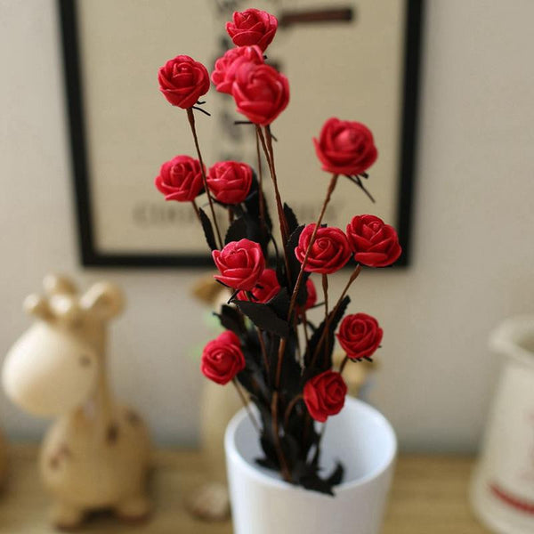 1 Bouquet 15 Heads Artificial flower Rose Simulation flowers Home Wedding Decoration