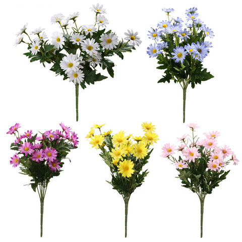 1 Bouquet 9 Heads Chrysanthemum Artificial Flowers Daisy Artificial Flower Silk Gerbera Flower for Wedding Party Home Decoration