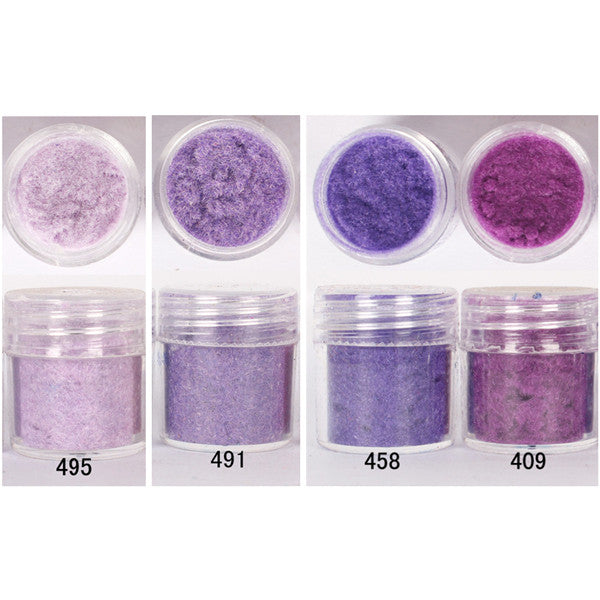 1 Box Purple Pink Colorful Fun Flocking Velvet Powder Manicure Nail Art Nail Polish Velvet Decoration 4 Colors HOT Sell
