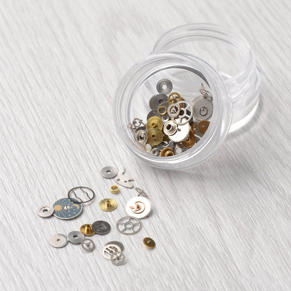 1 Box Ultra-thin Steam Punk Parts Style Nail Studs 3D Nail Art Decorations Time Wheel Metal Manicure DIY Nail Tips Art