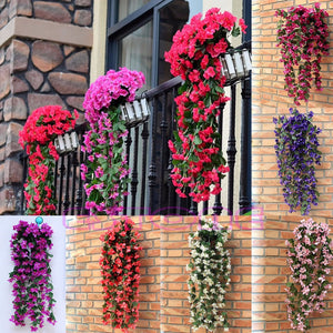 1 Bunch of Artificial Violet Hanging Garland Vine Flower Trailing Bracket Plant