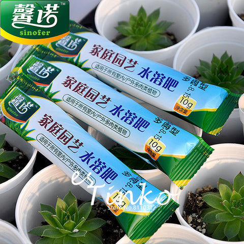 1 Orginal Packing (10grams) Water Soluble Fertilizer Suitable for Home Garden Succulent Plants Bonsai Free Shipping
