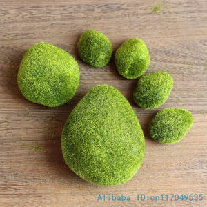 1 pack Artificial Moss Foam Stone Green Plant Home Decoration F340