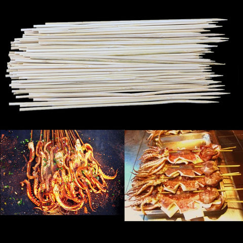 1 PACK Bamboo Skewers Grill Shish Kabob Wood Sticks Barbecue BBQ Tools