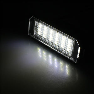 1 Pair 12V Car License Plate Light External Lights Replacing Lamp SMD3528 White Light 18 LEDs Bulb for VW Golf 4 Eos 06