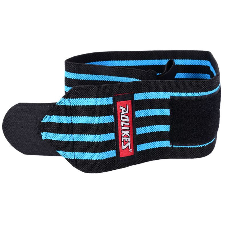1 pair AOLIKES Weightlifting wristband sport Professional Training hand bands wrist support straps wraps guards for gym fitness