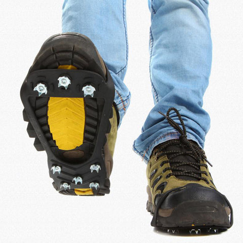 1 Pair Hot 10 Studs Winter Walking Cleat Ice Gripper Anti Slip Ice Snow Walking Shoe Spike Grip Camping Climb Ice Crampon Ice