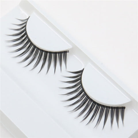 1 pair installed fiber long eye lashes naturally thick false eyelashes fashion
