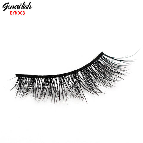 1 Pair Messy Mink False Eyelash 100% Handmade Super long Thick and Messy with High Quality Popular for Beauty Makeup-EYM008