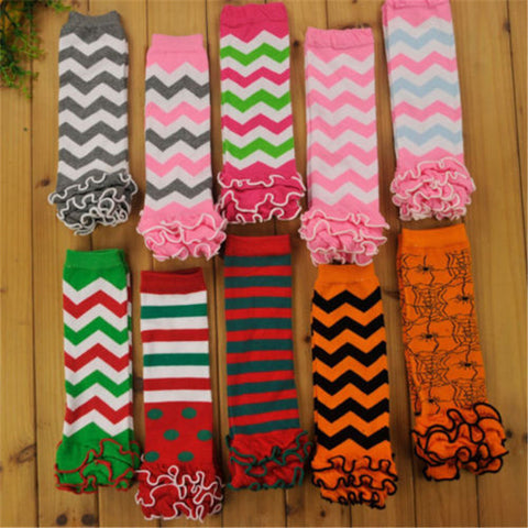 1 Pair New Soft Winter Warm Kids Girls Baby Leg Warmers Floral Trendy Knitted Trim Boot Cuffs Socks 8 Color