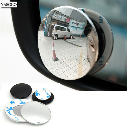 1 pair Newest 360 Degree frameless ultrathin Wide Angle Round Convex Blind Spot mirror for parking Rear view mirror high quality