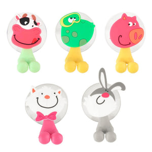 1 pc 2016 New Arrival cute Cartoon sucker toothbrush holder suction hooks bathroom set accessories Eco-Friendly Free shipping
