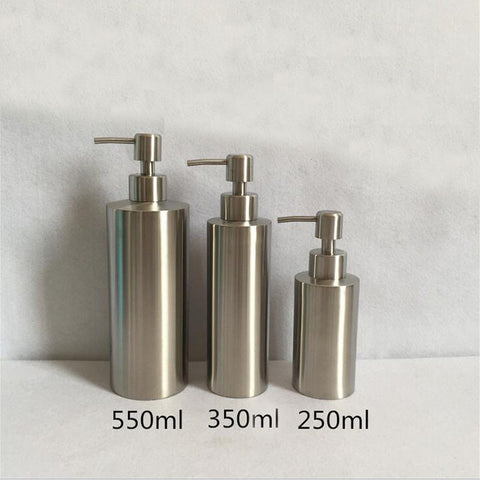 1 Pc 250ml 350ml 550ml Multipurpose Stainless Steel Liquid Soap Dispenser Sink Detergent Bathroom Lotion Pump Bottle
