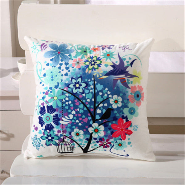 "1 PC 38*38cm 15"" Cartoon Digital Printed Polyester Pillow Case Cushion Cover Home Decorative Cushion Covers"
