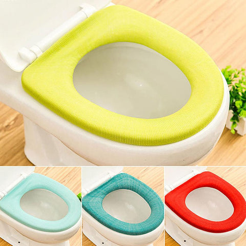 1 pc Candy Color Toilet seat Cover Seat Lid Pad cushion Soft Warmer Bathroom Closes tool Protector Home supplies s2