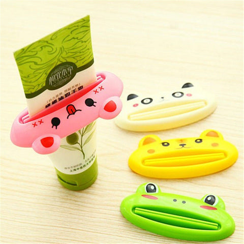 1 Pc Cartoon Animal Toothpaste Tube Squeezer Easy Squeeze Paste Dispenser Roll Holder Newest Drop Shipping