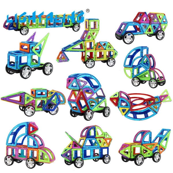 1 pc Different style Accessories Kids Toys Educational Magnetic Building Blocks Designer Roller 3D DIY Models Lightaling