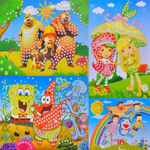1 pc large crystal diamond sticker 3D creative design of children handmade mosaic art sticker early childhood educational toys