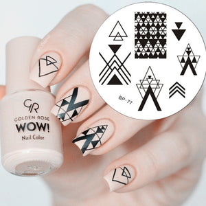 1 Pc Negative Space Triangle Pattern Nail Art Stamp Template Image Plate BORN PRETTY Stamping Plate BP77