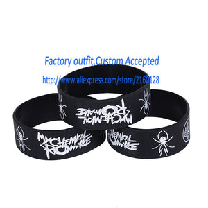 1 PC Retail Wholesale My Chemical Romance Silicone Wristband Show Your Support for Them By Wearing This Bracelet Promotion