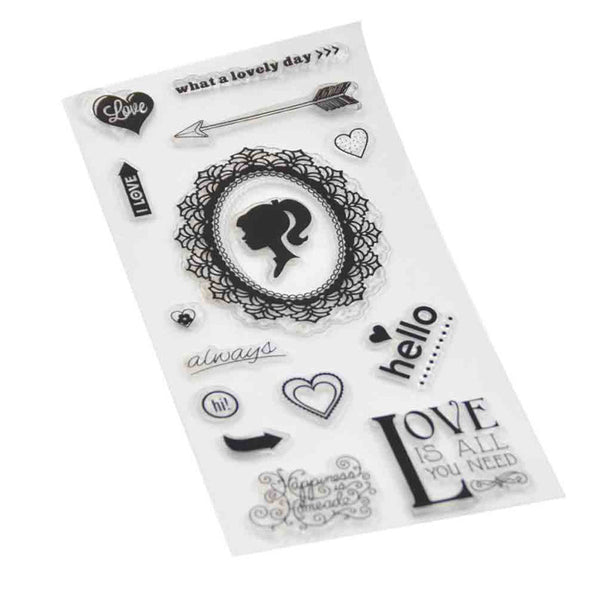 1 Pc Transparent Seal Clear Stamp Record Alphabet Pumpkin Sunflower Summer DIY Scrapbooking Craft