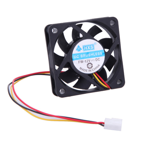 1 Pcs 12V DC 6cm PC Cooling Portable Fan Ball Bearing 3 Pin Connector for P4