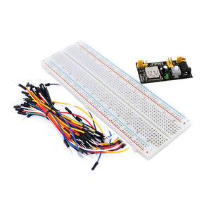1 pcs 3.3V 5V Breadboard power module+ 1 pcs 830 points Bread board kit + 1pcs 65 Flexible jumper wires for arduino