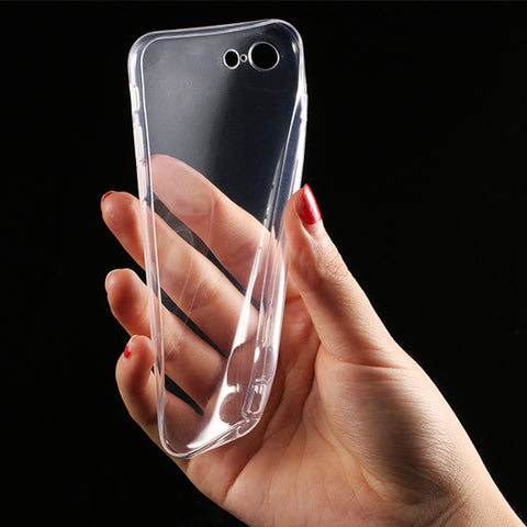 1 pcs Transparent Clear TPU Case for Apple iPhone 7 7 Plus 6 6s 5 5s SE Mobile Phone Cases Soft Silica Gel Silicone Cover