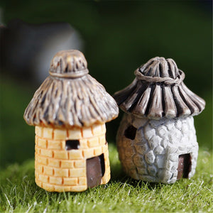 1 pcs banda House Fairy Garden Miniature Craft Micro Cottage Landscape Decoration For DIY Resin Crafts