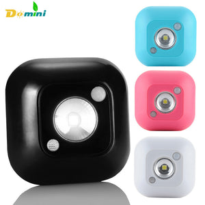 1 PCS Popular New Lamp Mini Wireless Infrared Motion Sensor luminaria Ceiling Night Lights Battery Powered Lamp Porch 4 Colors
