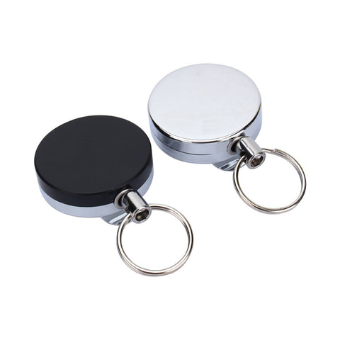 1 Pcs Retractable Keychain Stainless Steel Anti-Lost Keychain Outdoor Safety Buckle Recoil Ring Pull Clip Key Chianring