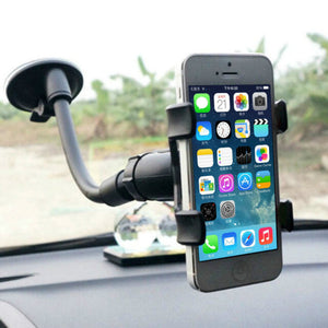 1 pcs Universal 360 Rotation Lazy Non-slip Windshield Car Mount Holder Bracket for GPS Mobile Phone