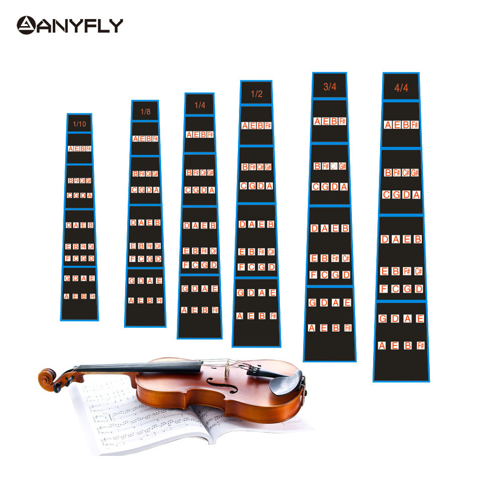 1 Pcs Violin 4 4 3 4 1 2 1 4 1 8 or 1 10 Practice Fiddle Finger Guide Sticker Fingerboard Fretboard Indicator Position Marker