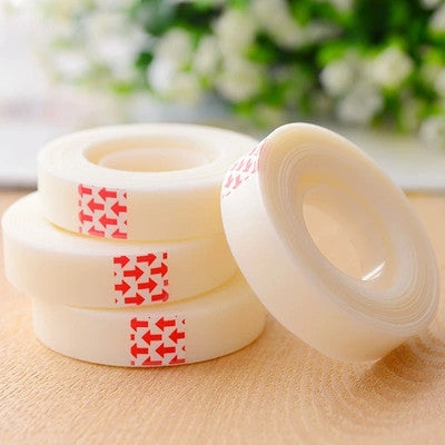 1 Pics Japanese Fabric Paper Scotch Pen Writable Transparent Adhesive Masking Tape Sticker Cute Scrapbook Supplies