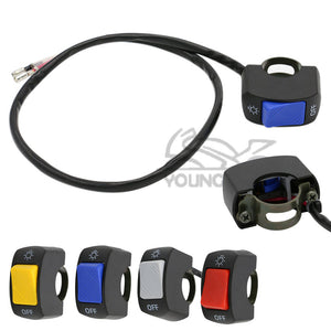 "1 piece 7 8"" 22mm Motorcycle Switch ON OFF Handlebar Adjustable Mount Waterproof Switches 4 colorsButton DC12V for Headlight"