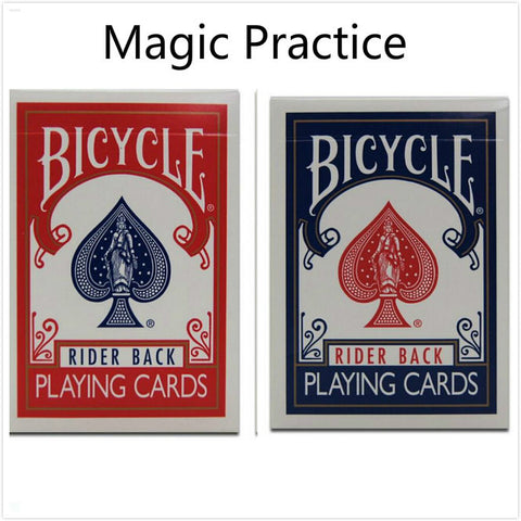 1 piece Bicycle Poker Blue Red Standard Bicycle Playing Cards Magic Tricks MADE IN CHINA Training Poker Card for begainner WYQ