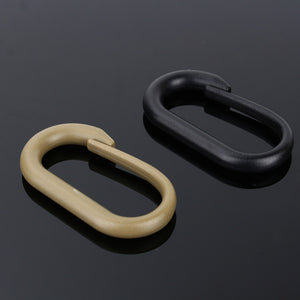 1 Piece Mini Nylon Carabiner Snap Spring Clips Hook Keychain Survival Outdoor Camping Travel Kits