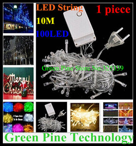 1 piece Multicolour 100 LED 10M RGB String Light LED strip 220V 110V Decoration colorful Lighting for Christmas Party Wedding