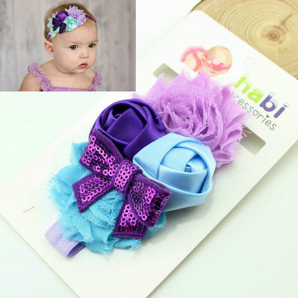 1 piece new2015 fashion newborn infant baby flower headband children hair bows girl kids hair accessories