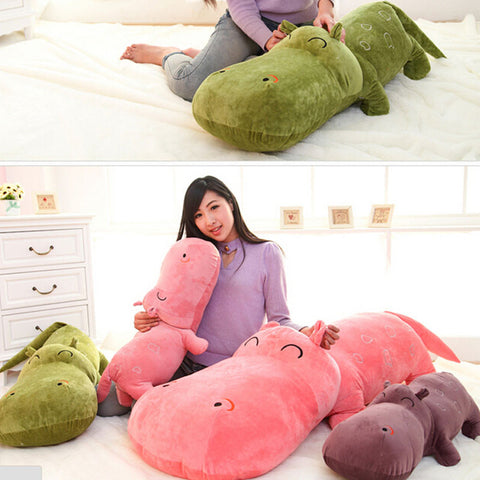 1 piece small size 50 cm hippopotami doll sleeping pillow cute super large stuffed plush toy cloth doll baby child birthday gift