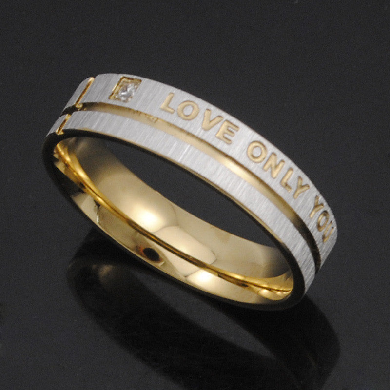 ... 1 Piece Stainless Steel Wedding Rings Band Korean Jewelry Couple Rings  His And Hers Promise Ring