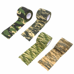 1 Roll Camouflage Tape Cool Camping Camo Waterproof Wrap Camouflage Stealth Tape Outdoor Hiking Travel Kits