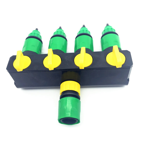 1 Set (6 Pcs) 4 Way Shunt Water pipe connector Water diverter Drip garden irrigation 4 7 or 8 11 Hose Connector Fitting