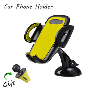1 set Mobile Phone Car Holder Stand Universal Phone Support For iPhone 6 6s Plus 7 For Samsung S4 S5 S6 S7 edge Suporte celular
