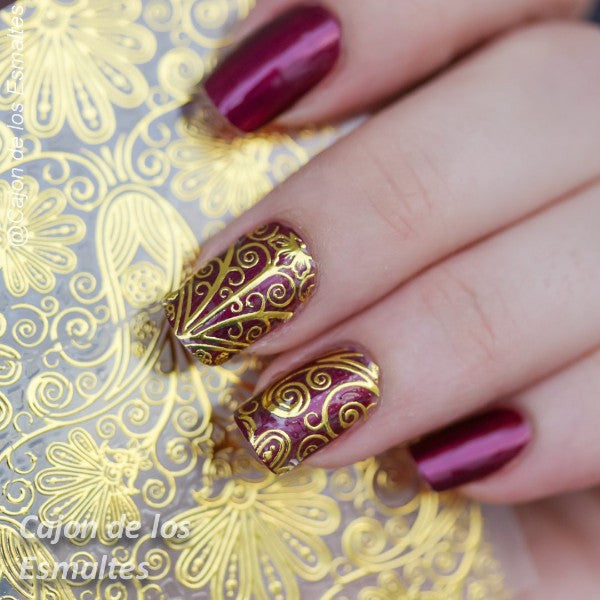 1 Sheet Embossed Flower 3D Nail Stickers Blooming 3D Nail Art Stickers Decals #BP052 # 24911