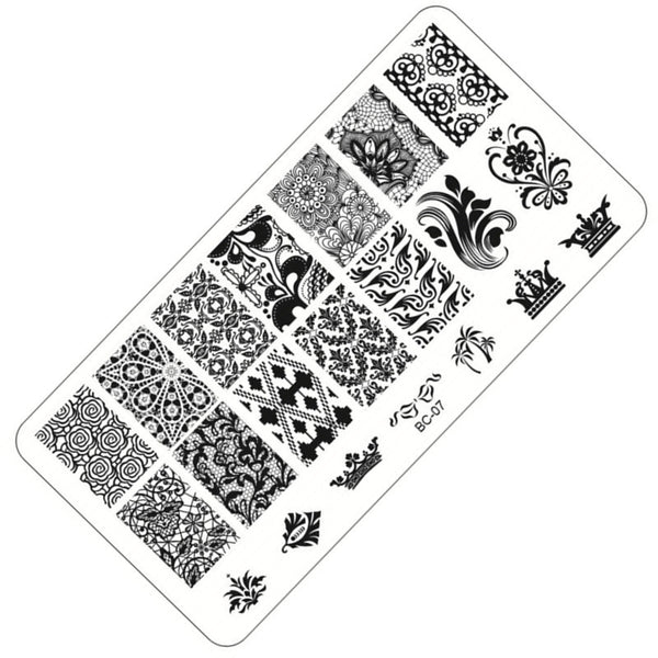 1 Sheet Lace&Flowers Series Stamping Nail Art Image Plate 6*12cm Stainless Steel Template Polish Manicure Stencil Tools