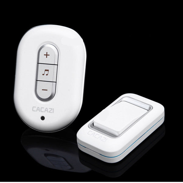 1 transmitter+1 receiver home 300M remote control digital AC 110-220V waterproof button elderly pager plug-in Wireless DoorBell