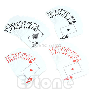 1*Waterproof Poker New Blue Red 100% PLASTIC Washable Texas Poker Size Playing Cards