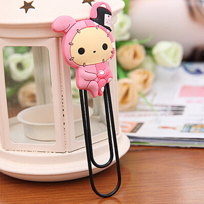 1 x cartoon Rilakkuma rubber bookmark paper clips material escolar papelaria kawaii stationery papelaria